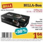 Gü Desserts -50% bei Billa – nur 1,64€ pro Sorte mit Gutschein