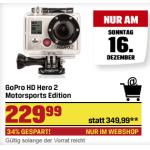 GoPro HD Hero 2 Motorsports Edition um 229,99€ + jeden Tag ein Schnäppchen bis 24.12
