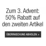 nur heute: 50% Rabatt auf den zweiten Artikel bei amazonbuyvip