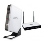 MSI Wind Box DC100-WE4504G8GXX inkl. gratis WLAN Router