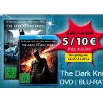 The Dark Knight Rises auf DVD um 5€ / Blu-ray um 10€ bei Müller