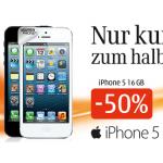 iPhone 5 16GB + Telefoniegesamtkosten für 2 Jahre um 928,5€ bei Drei
