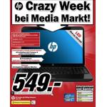 Media Markt: HP Crazy Week – Computer, Drucker u.s.w. verbilligt