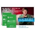 Nur Heute: 30% Rabatt auf Xbox Live Goldmitgliedschaften bei Müller