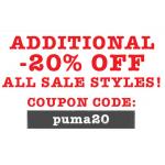 Puma Sale + 20% Rabatt auf bereits reduzierte Ware