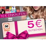 5 Euro Müller Gutschein geschenkt bei 10 Euro Einkauf (Kosmetik & Pflege)