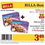 Iglo Mohnnudeln 1+1 gratis um 3,49 Euro mit Billa Bon!