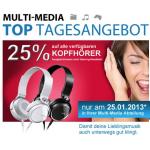 nur morgen: -25% Rabatt auf Kopfhörer bei Müller