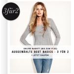 H&M Online Shop: 3 für 2 auf Best Basics + 2 Gutscheincodes