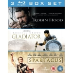 Robin Hood / Gladiator / Spartacus Blu-ray inkl. Versand um ca. 10,50 Euro