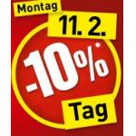 bauMax: -10% auf fast alles am 11.2.2013