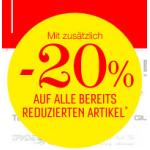 Sale & 20% zusätzlicher Rabatt bei Sport Eybl