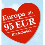 Austrian Valentinsaktion z.B.: Paris 98 Euro, London 127 Euro, Amsterdam 128 Euro, Dubai 396 Euro!