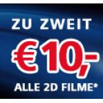 Cineplexx: nur heute: 2 Kinokarten um 10 Euro (3D um 12 euro) + Milka Amavel Praline