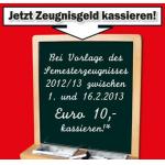 Media Markt Zeugnisaktion: 10 Euro geschenkt bis zur 13. Schulstufe