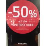 -50% auf alle Winterschuhe bei Humanic (inkl. Onlineshop)