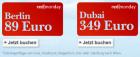 um 349€ nach Dubai und 89€ nach Berlin @Austrian redmonday