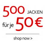 auch hier: 500 Jacken um 50 Euro bei Haburi.at
