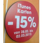 -15% auf iTunes Karten bei Libro