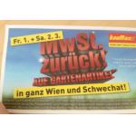 MwSt. (16,67%) zurück auf Gartenartikel (inkl. Griller!) am 1. &  2.3 bei Baumax in Wien & Schwechat