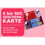 IKEA: 5 bis 50 Euro Geschenkkarte kostenlos für Frauen am 8. März 2013