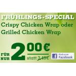 Crispy Chicken Wrap oder Grilled Chicken Wrap mit Gutschein um nur 2 Euro bei Burger King Österreich