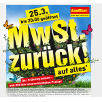 Baumax: MwSt. zurück am 25.3.2013