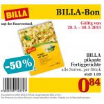 BILLA pikantes Fertiggericht 50% günstiger mit Bon