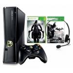 Xbox 360 250GB + 2 Controller + 4 Spiele (Crysis 3, Battlefield 3, Darksiders 2, Batman Arkham City) um 238,16 Euro