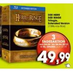 Herr der Ringe Trilogie (Extended Version) Blu-ray mit Gutschein um 44,99 Euro