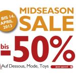 beate uhse: Mid Season Sale mit bis zu 50% Rabatt