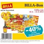 -40% auf alle Maggi Produkte mit Billa-Bon