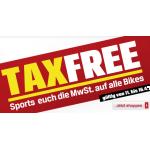 TAX FREE auf alle Bikes!