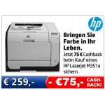 75 Euro Cashback beim Kauf eines HP LaserJet M351a
