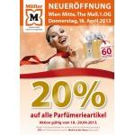 Müller Österreich: 20% auf alle Parfümerieartikel bis Samstag (20. April)