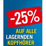 -25% auf alle lagernden Kopfhörer bei Niedermeyer