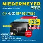 Nintendo 3DS schwarz/blau/rot um je 133 Euro bei Niedermeyer