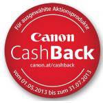 Canon Cashback 2013 bis zum 31.8.2013
