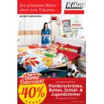 kika: -40% auf gkz. Kleiderschränke, Betten, Schlafzimmer, Jugendzimmer