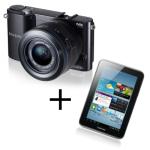 Samsung NX1000 + 20-50mm Objektiv +  Samsung Galaxy Tab 2 7.0 Wifi 8GB um 349 Euro