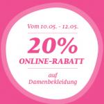 C&A: -20% Rabatt auf Damenbekleidung im Onlineshop