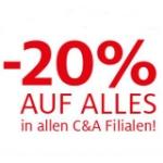 -20% in allen C&A Filialen ab Donnerstag den 16.5