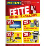 Metro: Fette Prozente nur am 17. und 18.5.2013