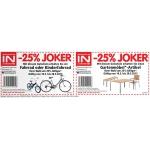 Interspar: -25% auf ein Fahrrad und/oder einen Gartenmoebel-Artikel