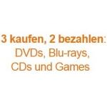 DVDs, Blu-rays, CDs und Games – 3 kaufen, nur 2 bezahlen bei Amazon