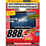 Media Markt Jubiläums-Angebote (z.B.: MacBook Pro 13″ um 888 Euro)