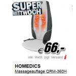 Mediamarkt Supermittwoch (z.B.: Homedics Massageauflage um 66 Euro statt 99 Euro)