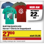 Sports Experts Tagesdeal: 2 Burton oder Quicksilver T-shirts um 27 € (als StarClub-Mitglied)