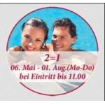 1+1 gratis auf den Tageseintritt in der Linsberg Asia Therme
