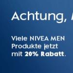 Amazon: 20% Rabatt beim Kauf von NIVEA Men Produkten im Wert von 15 Euro